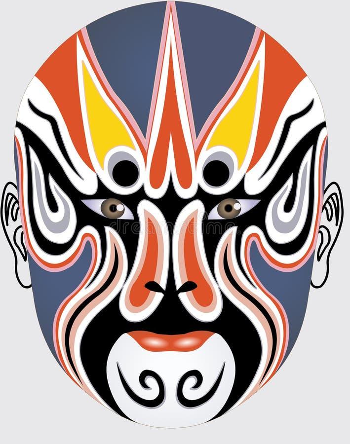 Face chinesa da ópera ilustração royalty free