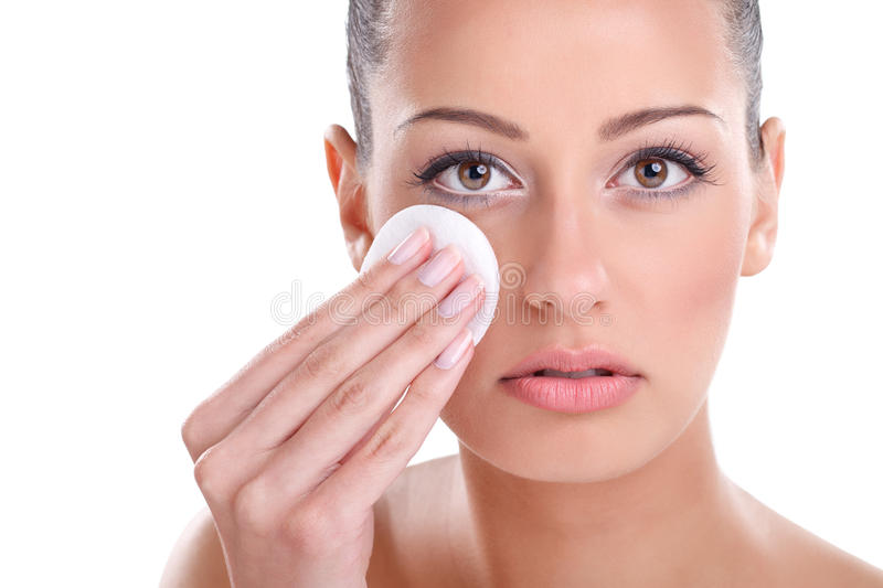 Face cleaning stock image