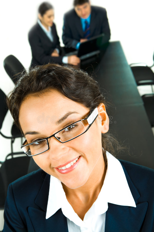 Download Face of clever woman stock image. Image of businesspeople - 4556957