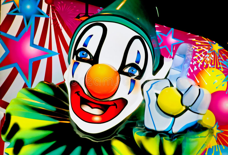 Face of a clown 1 stock image