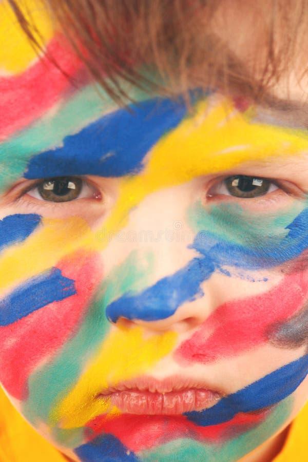 Download Face com pintura imagem de stock. Imagem de infância - 12807973