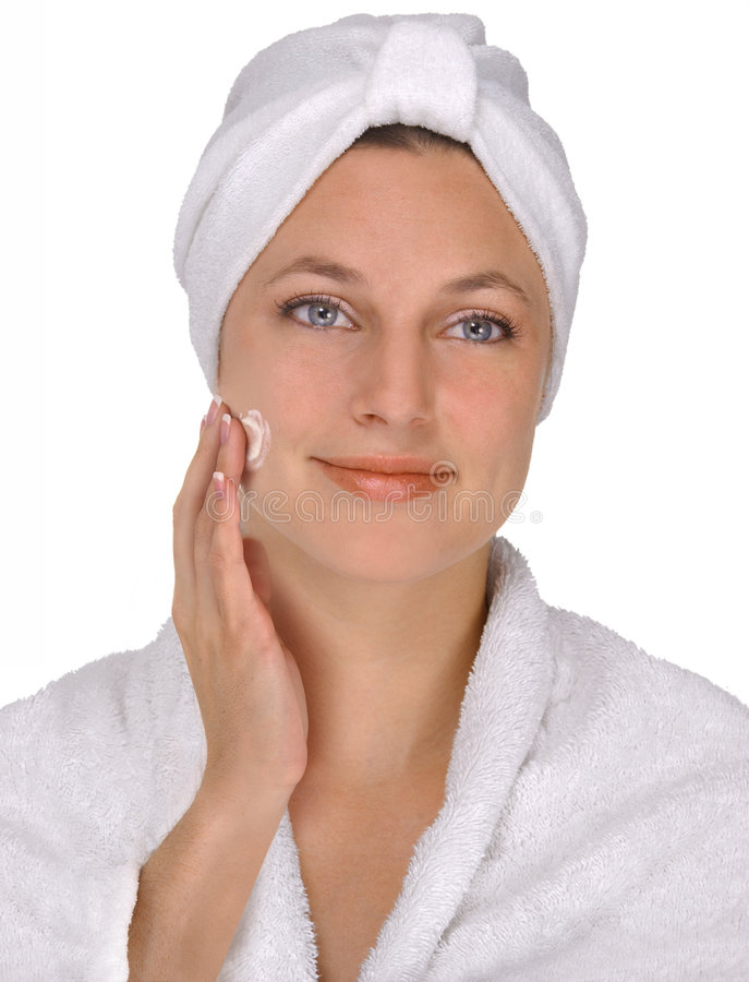 Face cream royalty free stock photos