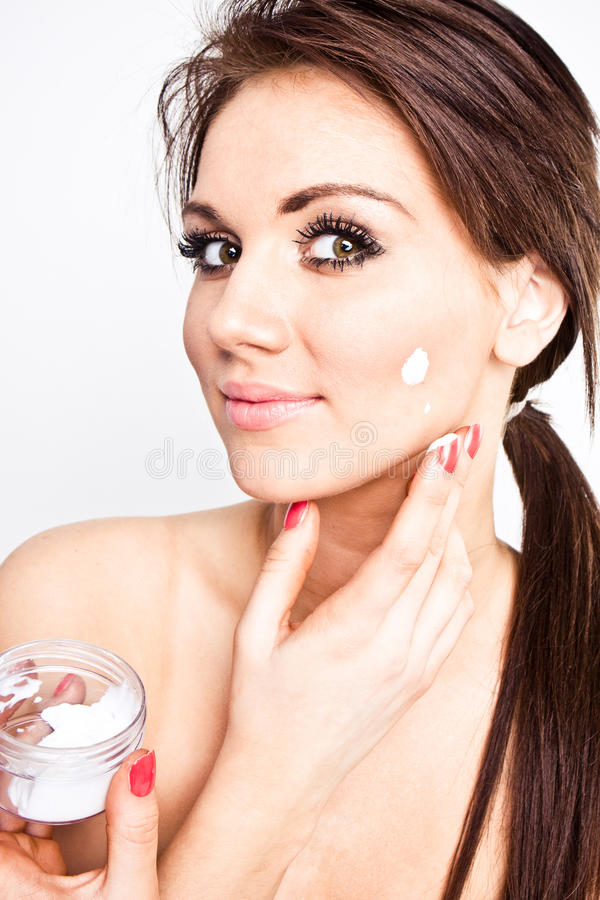 Face cream royalty free stock photography