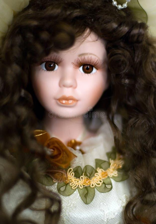 Face da boneca imagens de stock