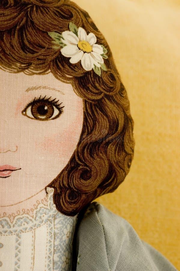 Face da boneca de pano fotos de stock