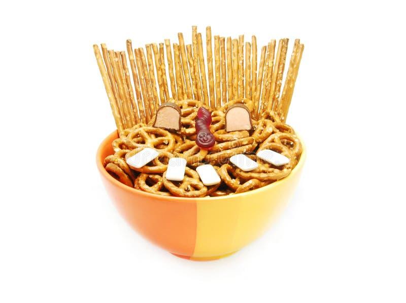Face da comida lixo imagens de stock royalty free