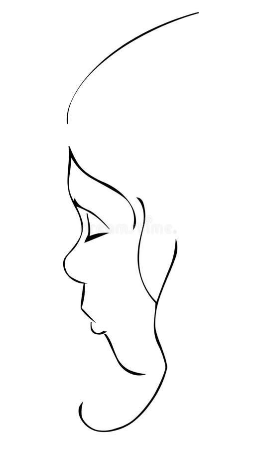 Face da menina ilustração royalty free