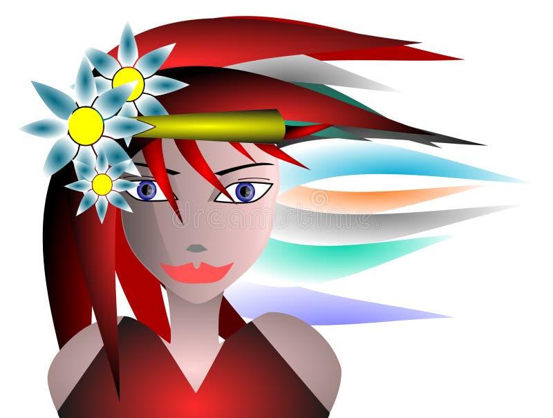 Face da menina ilustração do vetor