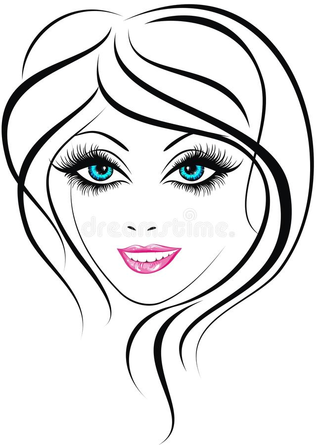 Face da menina da beleza ilustração stock