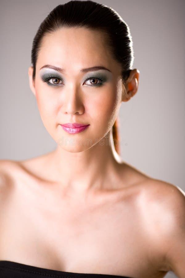 Face da mulher com composição imagens de stock