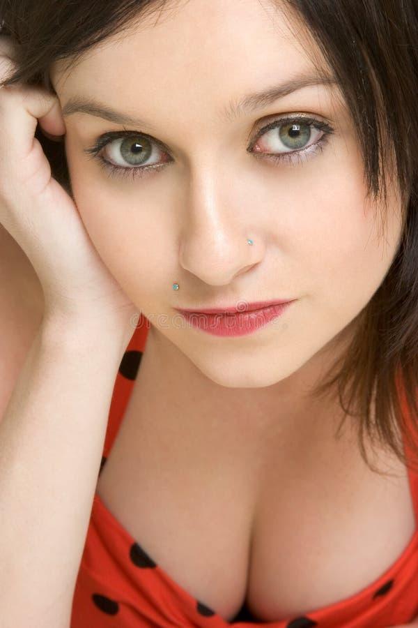 Face da mulher do close up imagens de stock