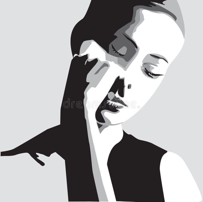 Face da mulher do vetor ilustração royalty free