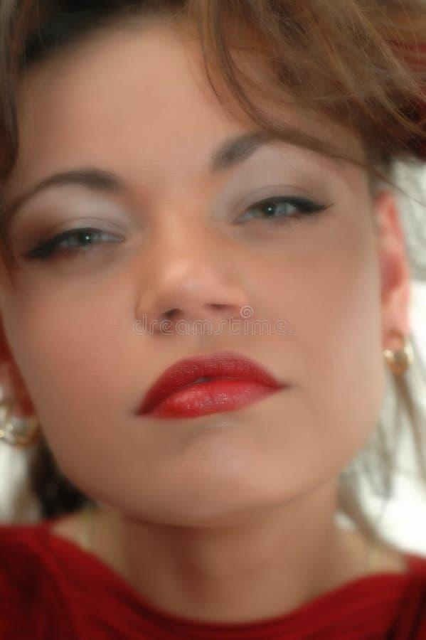 Face da mulher - foco macio foto de stock royalty free