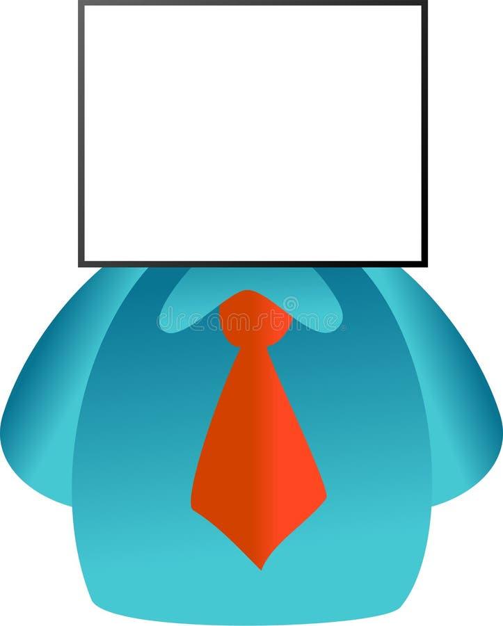 Face da placa ilustração do vetor