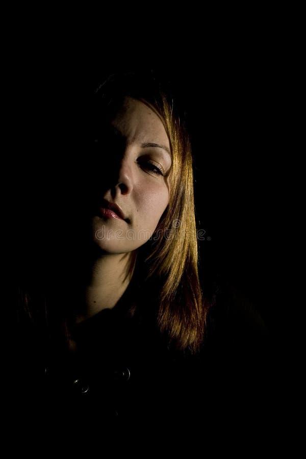 Face da sombra inclinada para a direita imagens de stock royalty free