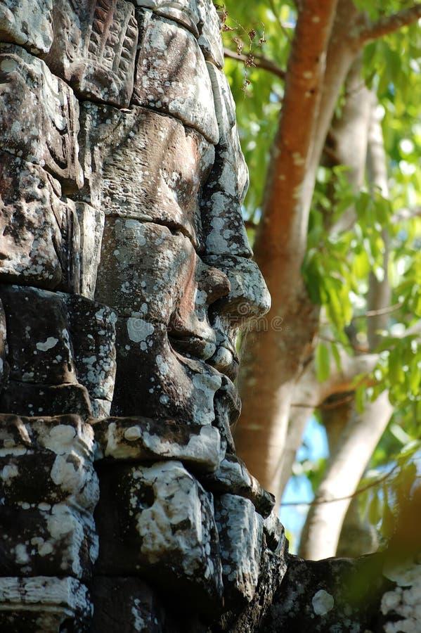 Face de Angkor foto de stock royalty free