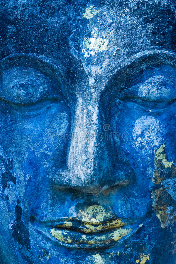 Face de Buddha, Sukhothai, Tailândia. fotografia de stock royalty free