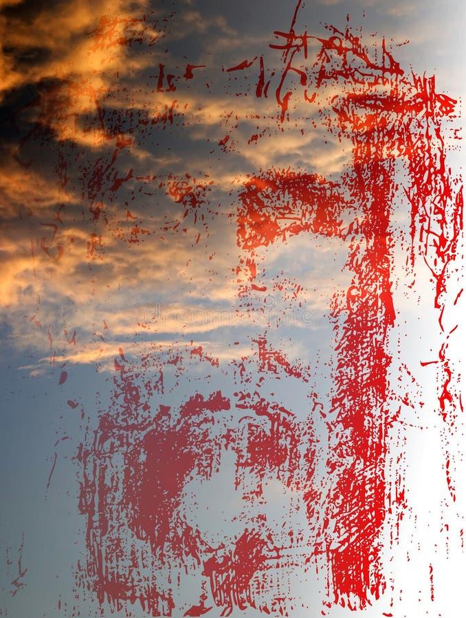Face de Christ no céu ilustração stock