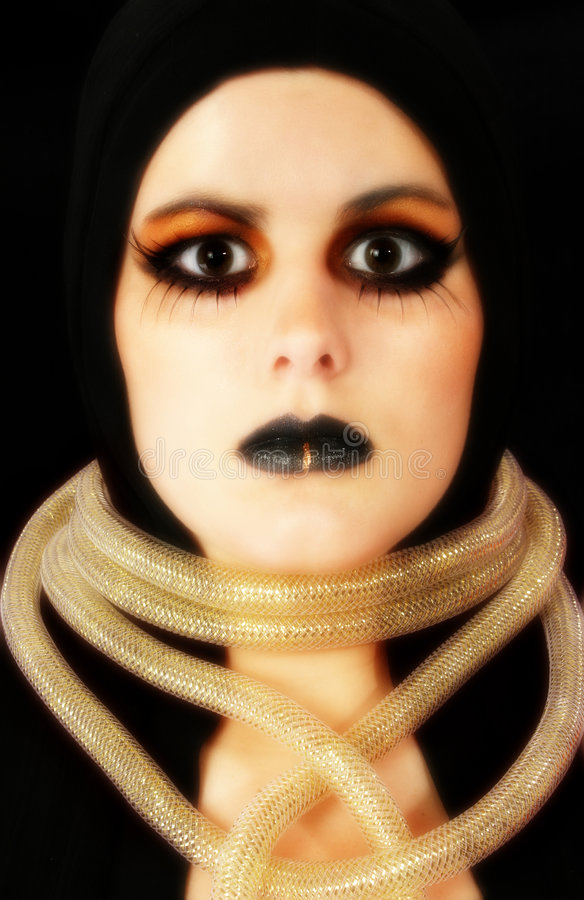 Face de Goth fotos de stock