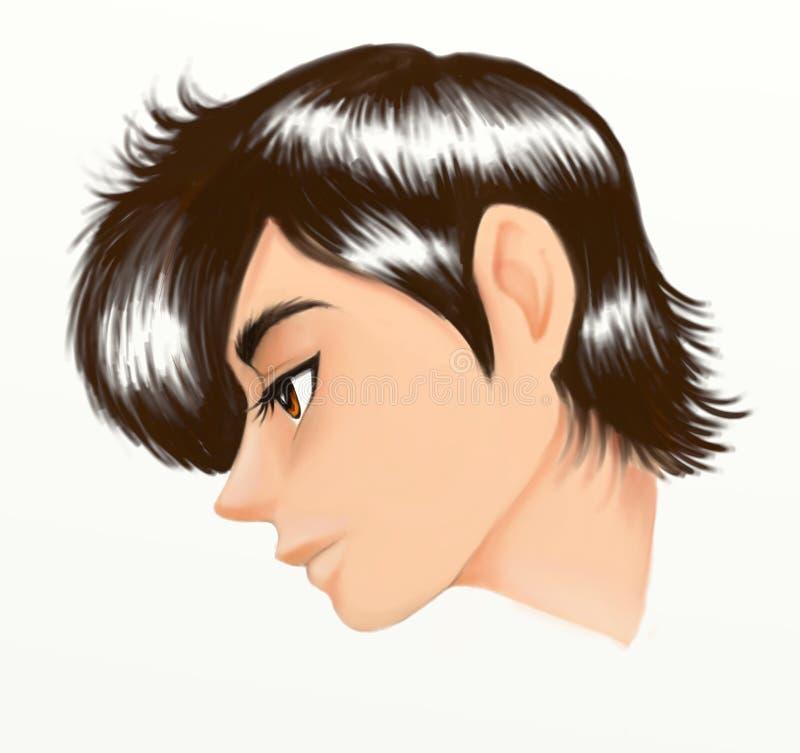 Face de homem novo ilustração royalty free