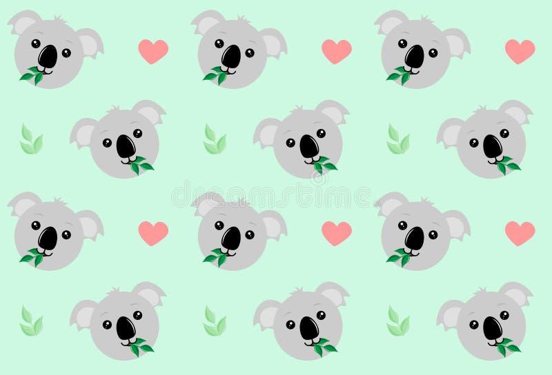 Face de Koala com um galho ilustração do vetor