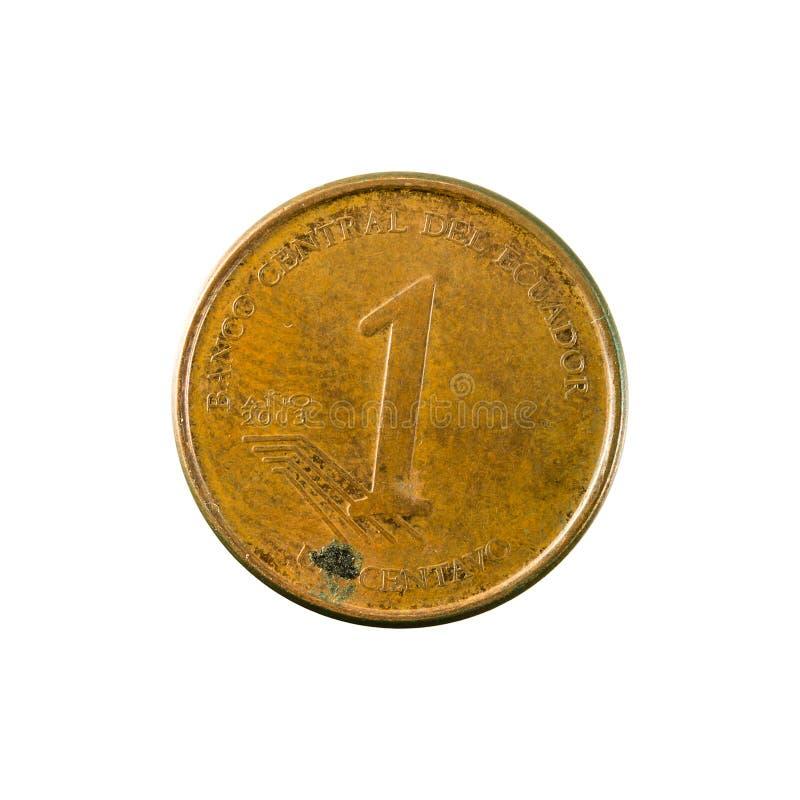 1 face de la pièce de monnaie 2003 de centavo d'ecuadorian photo libre de droits