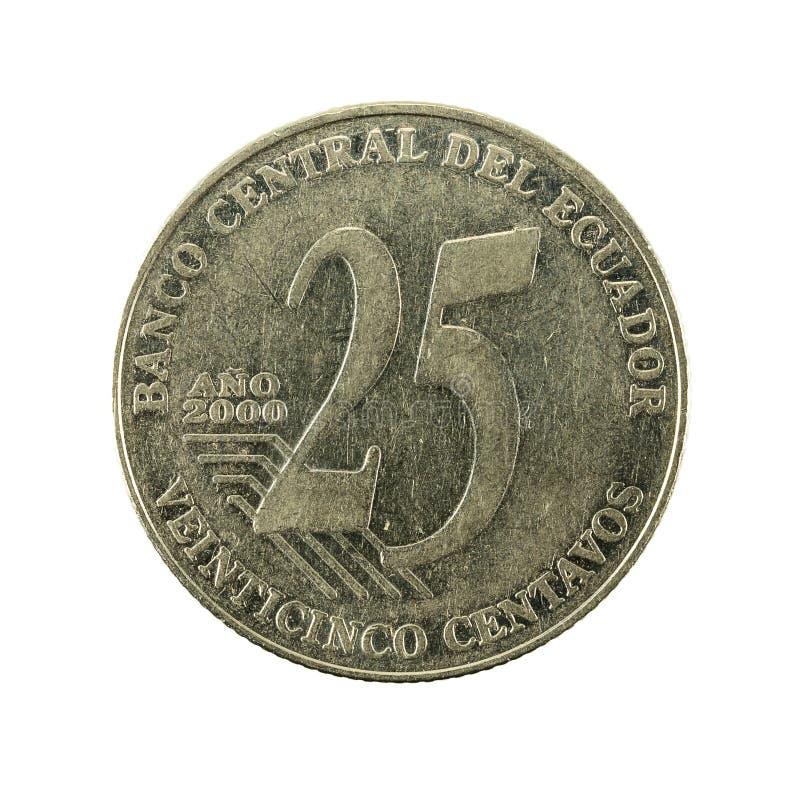 25 face de la pièce de monnaie 2000 de centavo d'ecuadorian photos libres de droits