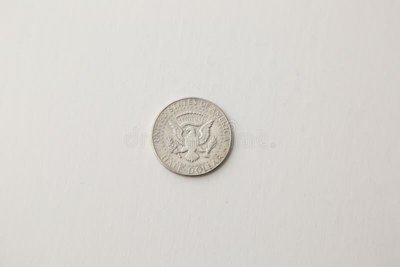 Face de la pièce de monnaie de demi-dollar de l'année 1967 photos libres de droits