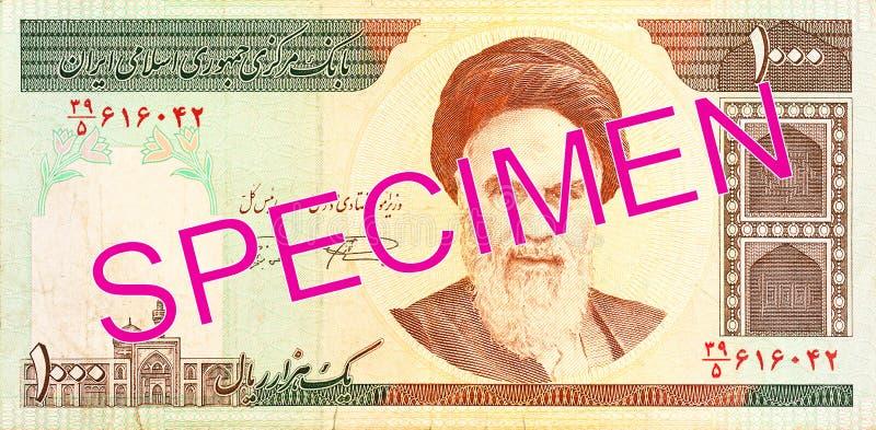 face de note du rial 1000 iranien photos libres de droits