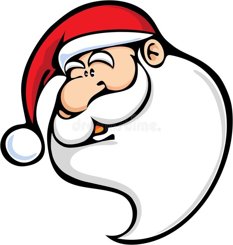 Face de Papai Noel ilustração do vetor
