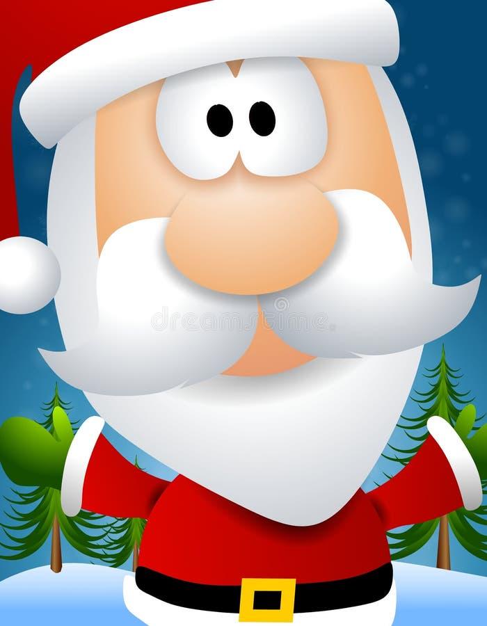Face de Papai Noel dos desenhos animados