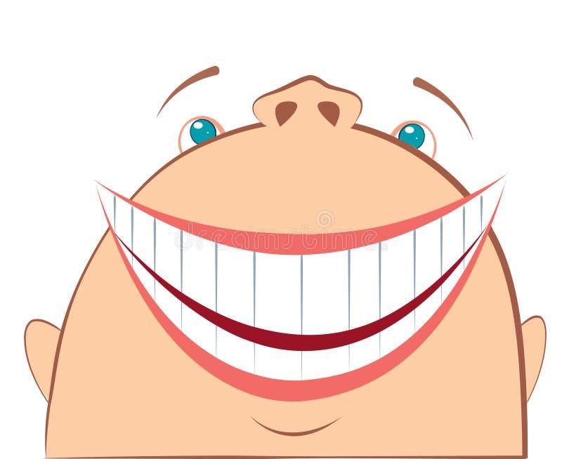 Face de riso do vetor. ilustração royalty free