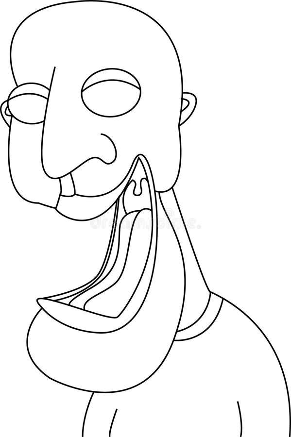 Face de riso dos desenhos animados engraçados fotos de stock