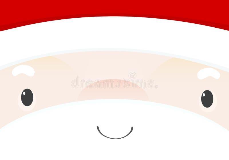 Face de Santa ilustração royalty free