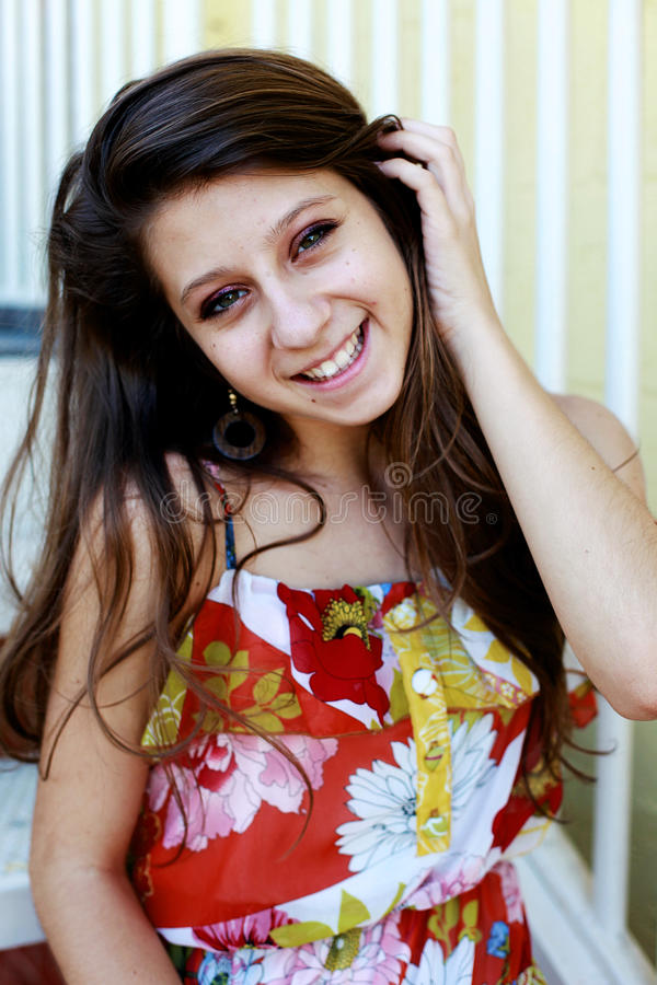 Face de sorriso adolescente fotos de stock