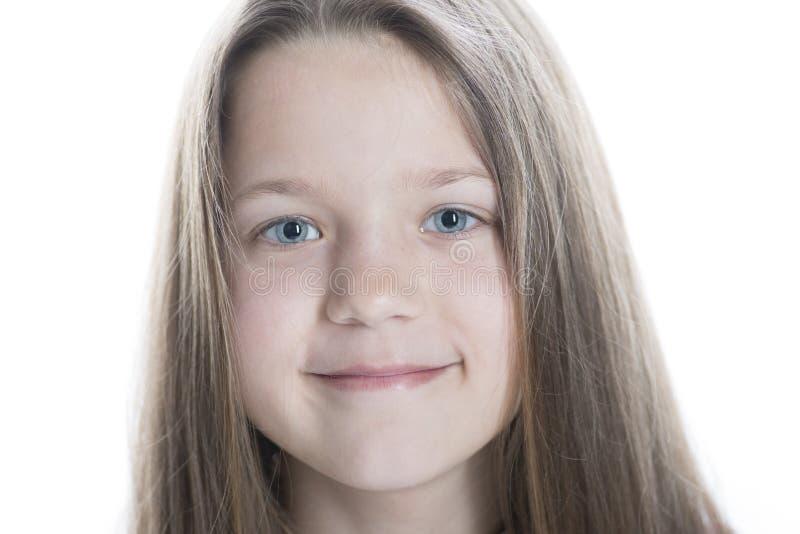 Face de sorriso da menina fotografia de stock