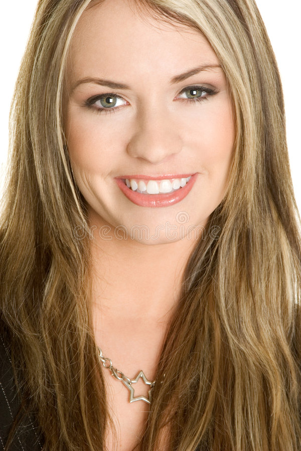Face de sorriso da mulher foto de stock royalty free