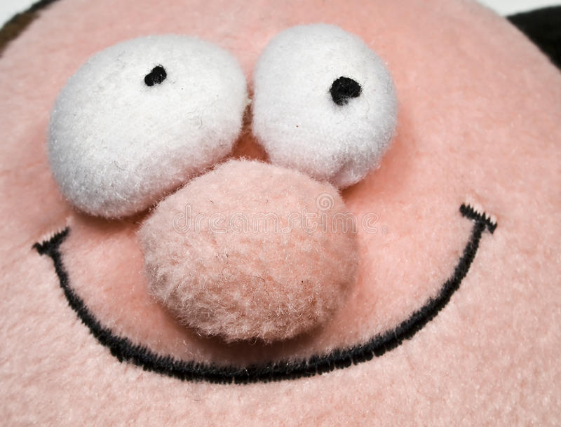 Face de sorriso da peluche fotografia de stock