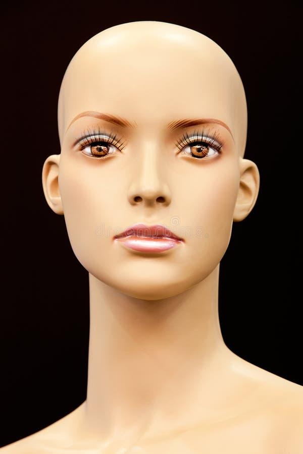 Face de um mannequin calvo imagens de stock