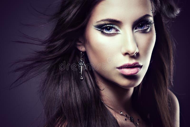 Face de uma mulher bonita fotografia de stock