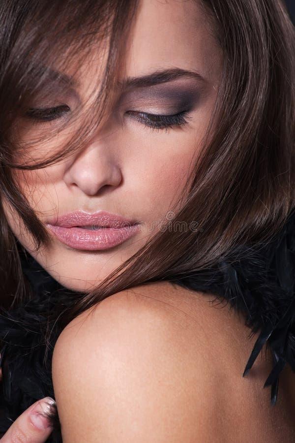 Face de uma mulher bonita fotos de stock