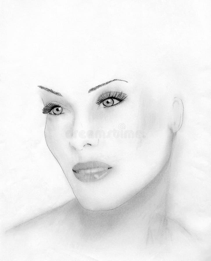 A face de uma mulher bonita imagens de stock