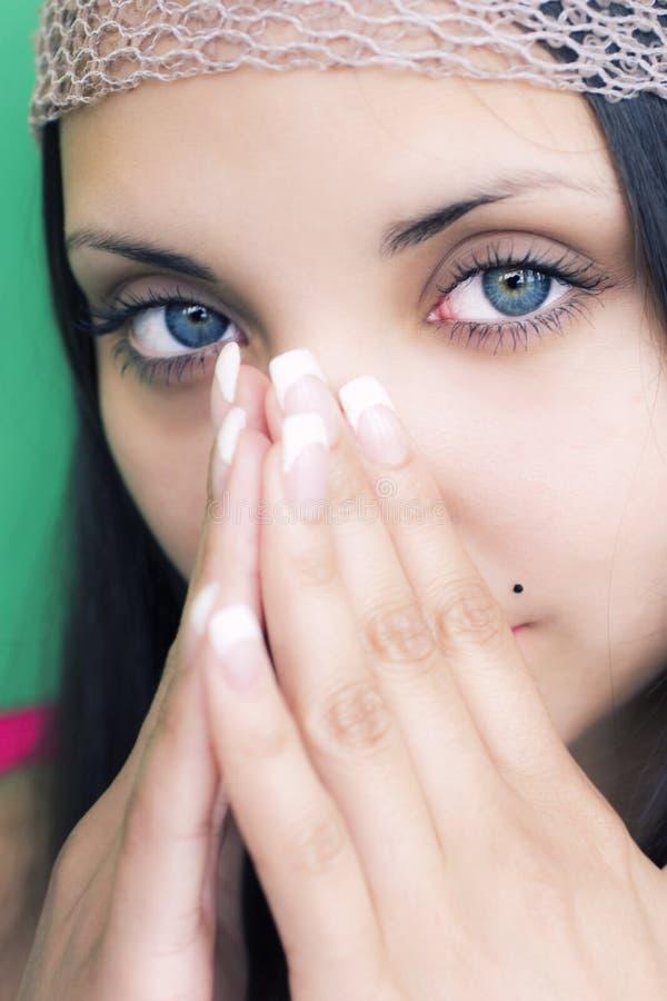Face do brunette bonito novo fotos de stock