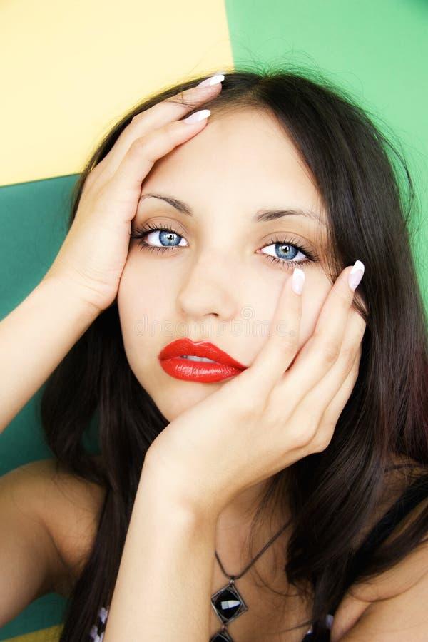 Face do brunette bonito novo imagens de stock