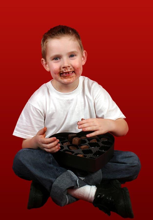 Face do chocolate fotografia de stock