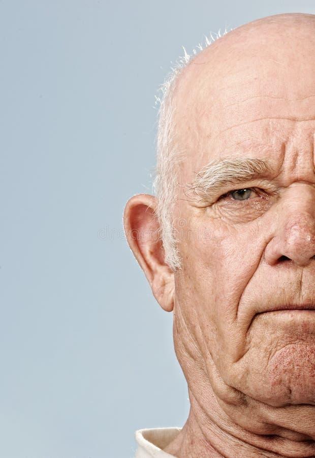 Face do homem idoso foto de stock
