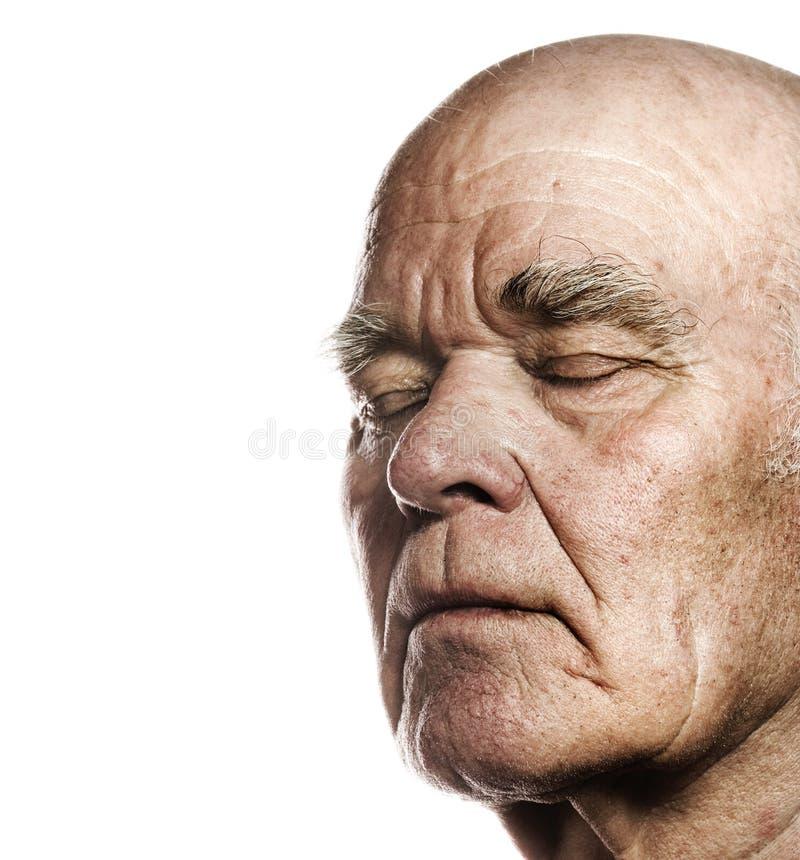 Face do homem idoso fotos de stock royalty free