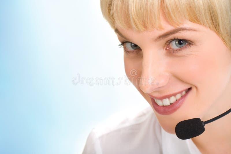 Face do operador de telefone imagem de stock royalty free
