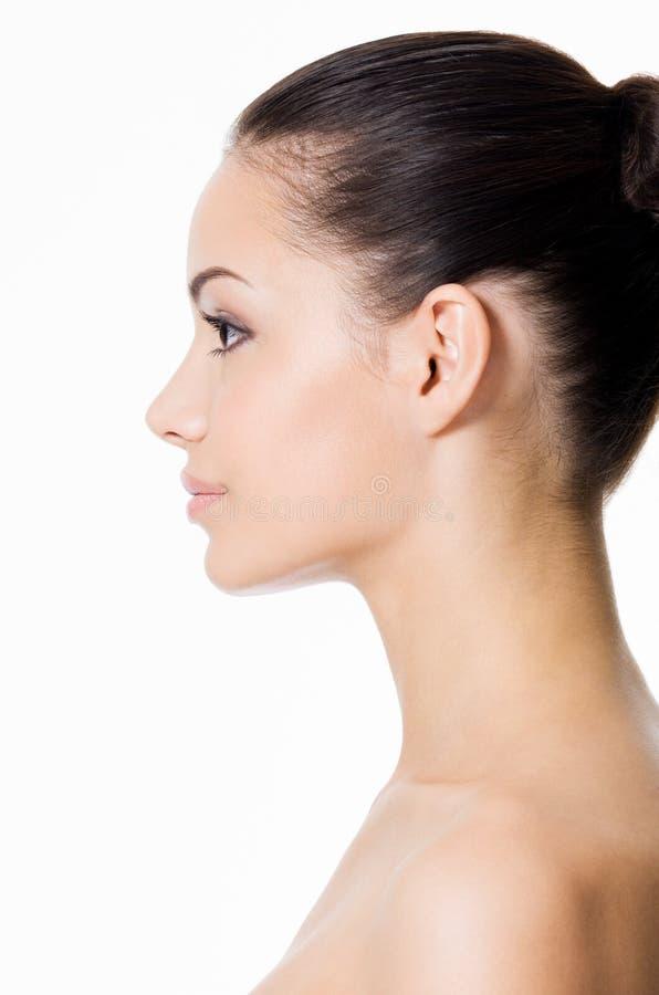Face do perfil da mulher nova imagem de stock royalty free