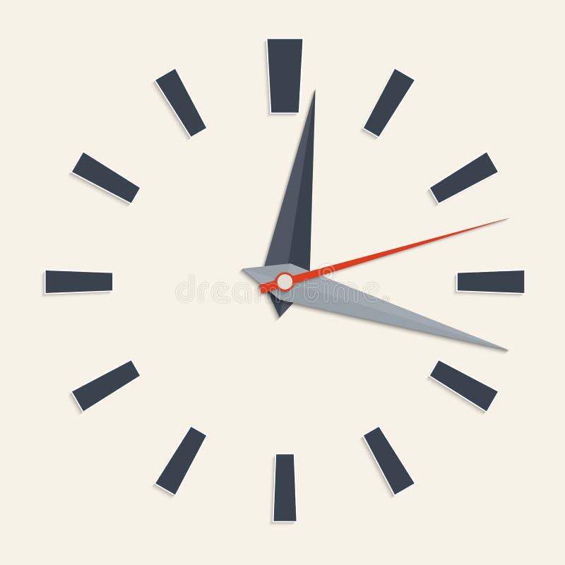 Face do relógio análoga ilustração stock